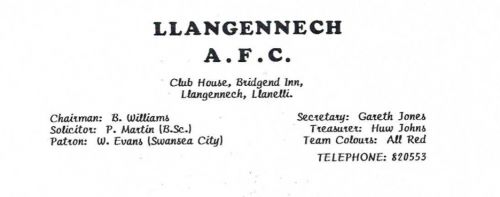 The first known club letterhead.